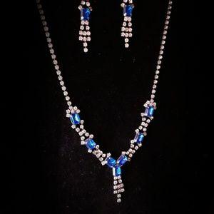 Sapphire and Diamond Color Rhinestone Dazzle